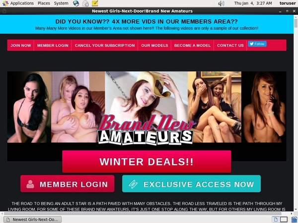 Get Brand New Amateurs Deal