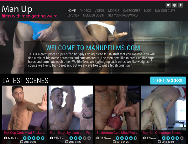 Man Up Films Footjob