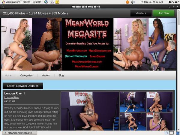 Meanworld.com Passwords Free