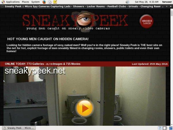 Sneaky Peek Passworter
