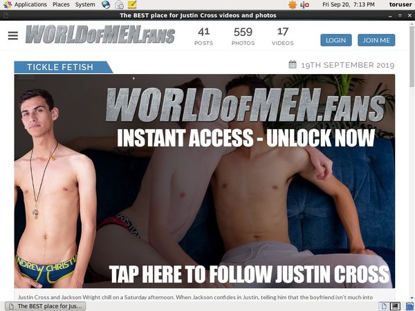 World Of Men Fans - Justin Cross Cam