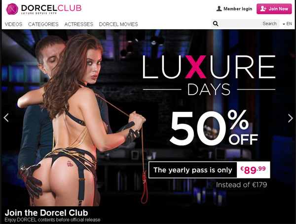 Dorcelclub Discount Signup
