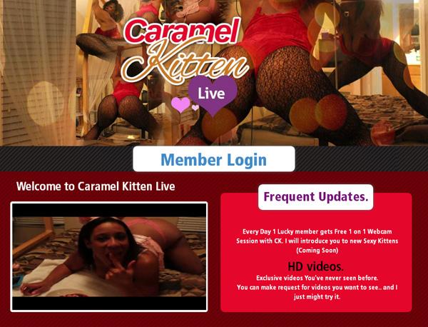Caramel Kitten Live Sign Up Link